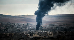 La ville de Kobané, en Syrie.