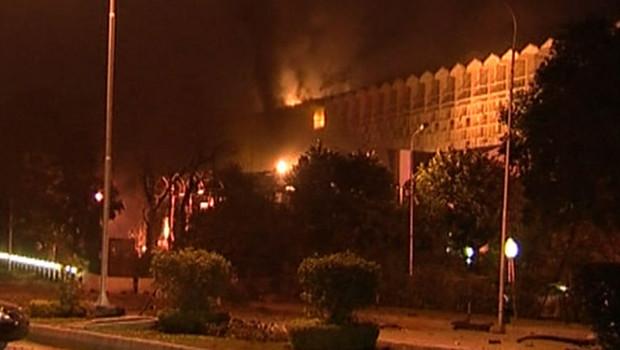 Les images de l'attentat à Islamabad, le 20 septembre 2008