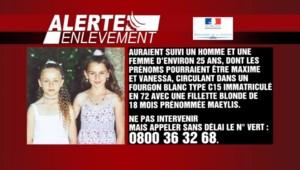 Une alerte enlèvement a été lancée dimanche après la disparition inquiétante de deux fillettes dans la Sarthe.