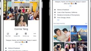 Facebook modifie l'apparence des profils utilisateurs sur son appli mobile