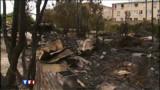 Un incendie détruit un camp Roms