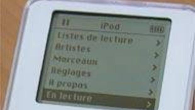iPod Apple : écran