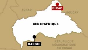 La carte de Centrafrique
