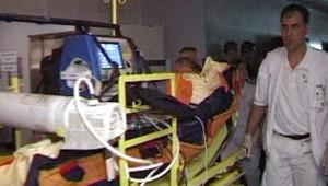 L'hôpital Saint-Antoine plongé dans le noir (26 juin 2008)