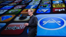 Le patron d'Apple Tim Cook en mars 2012