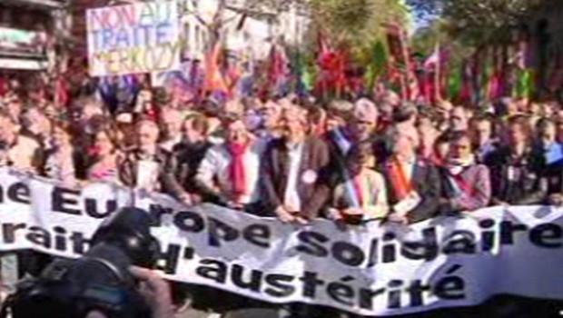 manifestation traité européen austérité