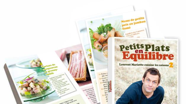Le livre le livre tome 2 petits plats en equilibre - Tf1 cuisine laurent mariotte moelleux aux pommes ...