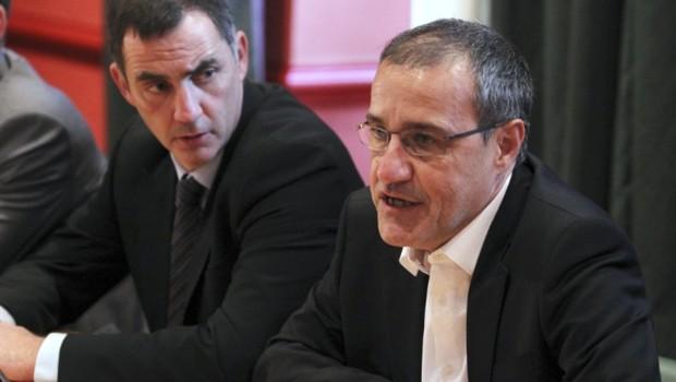 Jean-Guy Talamoni (à droite) et Gilles Simeoni (à gauche).