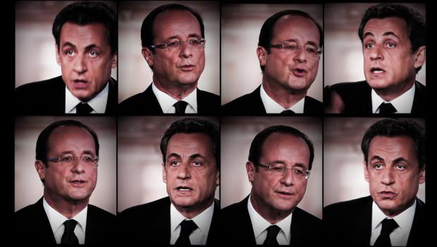 Débat d'entre-deux-tours Hollande-Sarkozy le 2 mai 2012 : montage