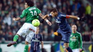 Saint-Etienne et le PSG ont fait match nul (2-2) au terme de la 29e journée de Ligue 1, le 17 mars 2013.