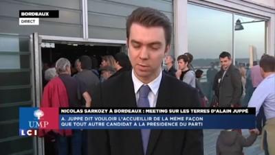 """Sarkozy en meeting à Bordeaux : """"La salle assez largement acquise à l'ex-chef de l'Etat"""""""