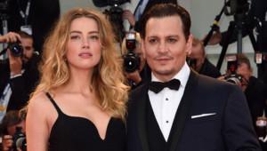 Amber Heard et Johnny Depp lors de l'avant première de Black Mass à Venise en septembre 2015