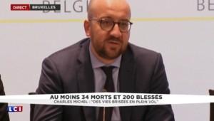 """Attentats à Bruxelles : Charles Michel parle """"de personnes fauchées par la barbarie extrême"""""""