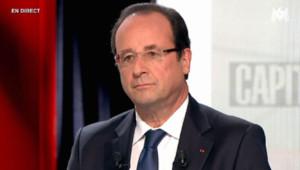 François Hollande dans l'émission Capitale sur M6, le 16 juin 2013.