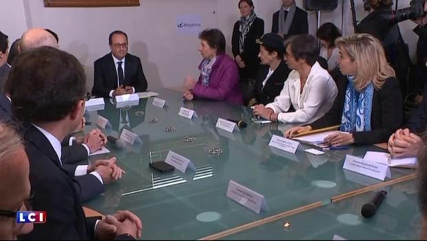 Grand-Quevilly : François Hollande en visite dans le fleuron de l'industrie pharmaceutique