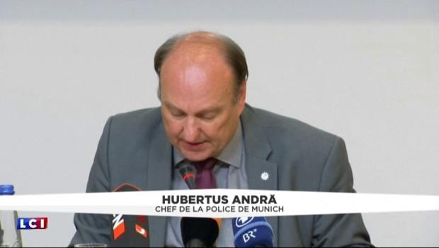 """Fusillade à Munich : """"Nous déplorons 10 morts avec le suspect"""""""