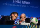 Jérôme Valcke et Joseph Blatter, respectivement sécretaire général et président de la Fifa.