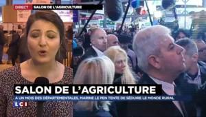 Salon de l'agriculture : énorme cohue à l'arrivée de Marine Le Pen
