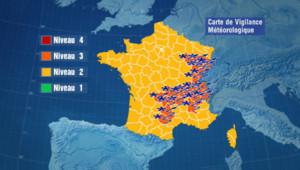 Carte de vigilance de Météo France (17 décembre 2010)