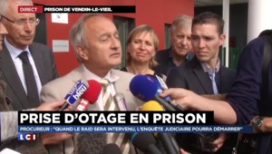 """Prise d'otage à la prison de Vendin-le-Vieil : """"La situation sous contrôle, des négociations en cours"""""""