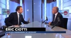 """Eric Ciotti : """"Je voterai la loi sur le renseignement"""""""