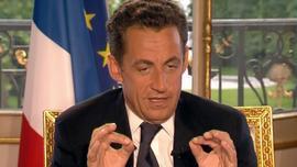 TF1/LCI Nicolas Sarkozy, le 20 juin 2007, au JT de TF1