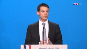 Le 13 heures du 16 avril 2014 : Valls d�ille les 50 milliards d'�nomie pr�es par le gouvernement - 291.9610047302246