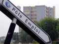 Panneau indicatif de Pôle emploi, à Lille, en juillet 2011.