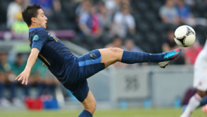 Samir Nasri lors du match France-Angleterre de l'Euro-2012 à Donetsk (Ukraine), le 11 juin 2012.