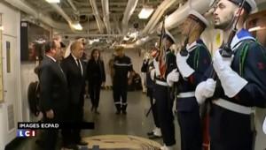 Hollande a rencontré les membres d'équipage du Charles de gaulle