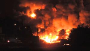 Le wagon d'un train chargé de pétrole a explosé dans le centre ville de Lac Megantic au Québec.