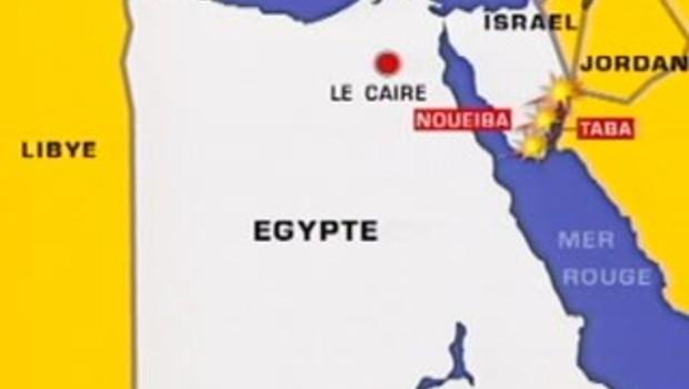 carte Egypte sinaï israel