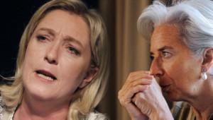 Marine Le Pen (à droite) et Christine Lagarde (à gauche) - montage photo