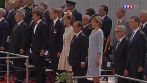 Le 20 heures du 4 août 2014 : Hollande et ses homologues europ�s comm�rent le centenaire de la Grande Guerre - 646.1267298583984