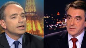 Montage photo de Jean-François Copé et François Fillon, mercredi 21 novembre 2012.