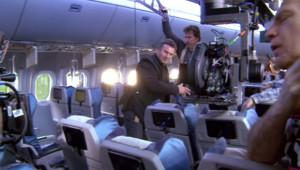 Sur le tournage du film Non-Stop avec Liam Neeson