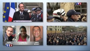 """Hommage de Hollande aux policiers tués : """"Ils sont morts avec courage, bravoure et dignité"""""""