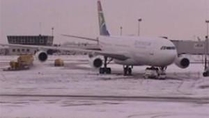 neige avions aeroport