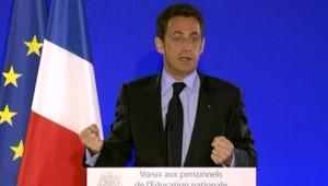 Nicolas Sarkozy, le 12 janvier 2009, lors de ses voeux aux enseignants