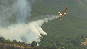 Corse incendies canadair