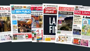 Fin du monde le 21 décembre 2012 : les Unes de la presse quotidienne régionale (montage - 21 décembre)