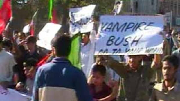 manif anti bush pakistan