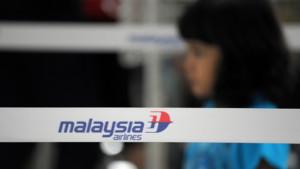 Comptoir de la compagnie Malaysia Airlines à l'aéroport de Kuala Lumpur, 9/3/14