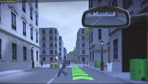 Simulateur de conduite pour policiers (extrait)