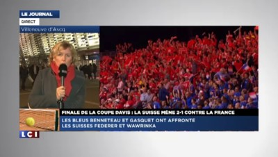 """Coupe Davis : la France menée 2-1, """"ce double est allé dans un seul sens"""""""