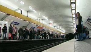 Un quai du métro parisien à la station Châtelet (archives).
