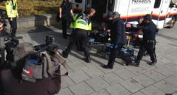 Canada : ambulance intervenant pour soigner un blessé après la fusillade à Ottawa, 22/10/14