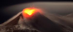 Eruption du volcan Etna en Sicile le 22 janvier 2013