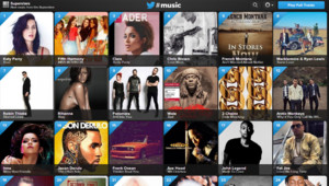 Le site Internet de Twitter #Music