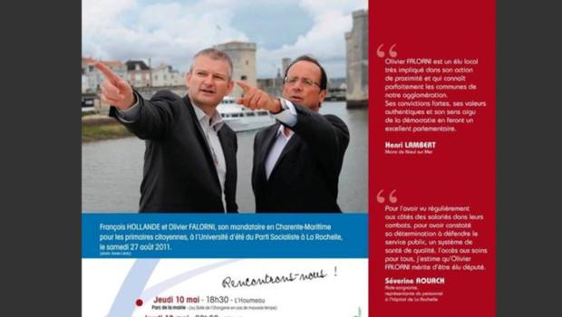 Sur le blog de campagne d'Olivier Falorni, le 23 mai 2012.